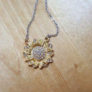 Jewelry - Sunshine sunflower vintage inspirational necklace